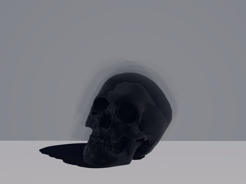 SKULL BLACK WALLPEPER