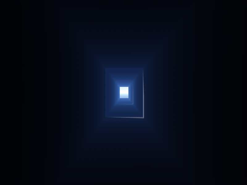 BLUE TUNNEL WALLPAPER